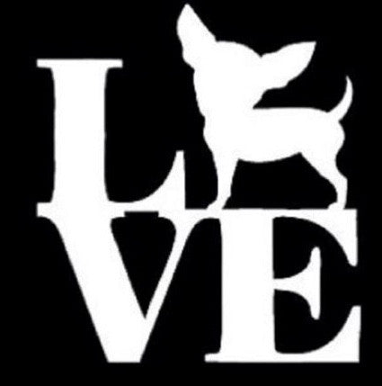 Love chihuahua sticker - Dogs Make Me Happy