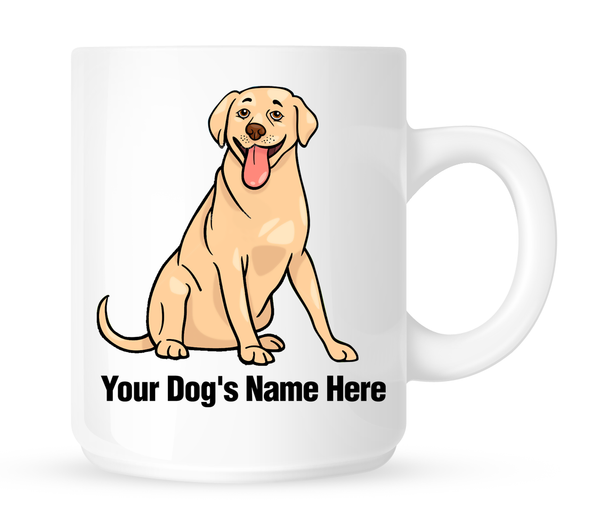 Personalized mug for your labrador - Dogs Make Me Happy