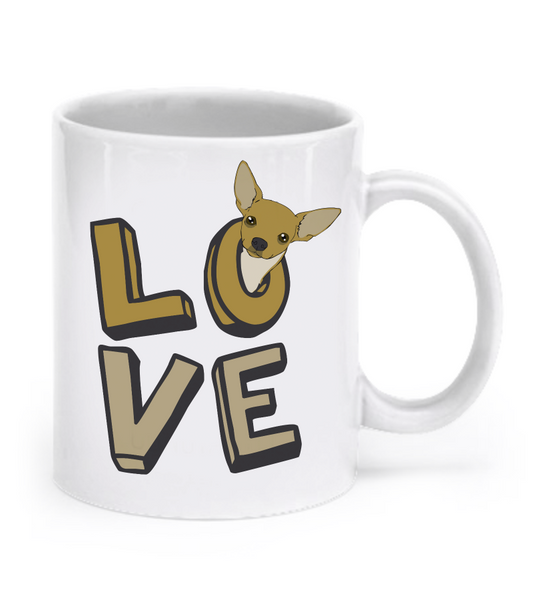 Love - Chihuahua mug - Dogs Make Me Happy - 2