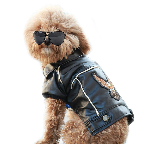 Motorcycle jacket for dogs - Dogs Make Me Happy - 1