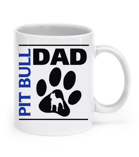 Pit Bull Couple Mug Set (2 mugs) - Dogs Make Me Happy - 2