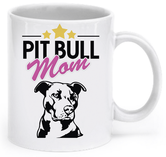 Pit Bull mom mug - Dogs Make Me Happy