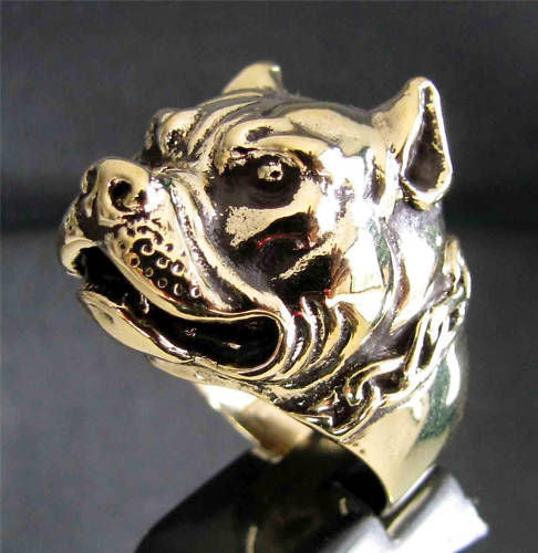Pit Bull bronze ring - Dogs Make Me Happy - 2