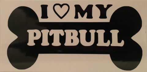 I <3 my Pit Bull sticker - Dogs Make Me Happy - 3