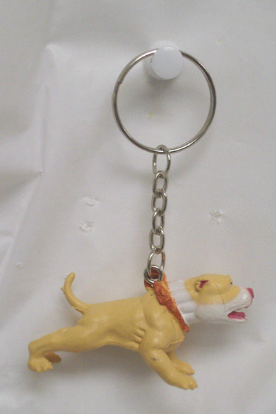 Pit Bull keychain - Dogs Make Me Happy