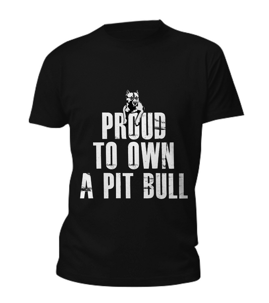 Proud to own a Pit Bull tee - Dogs Make Me Happy - 3