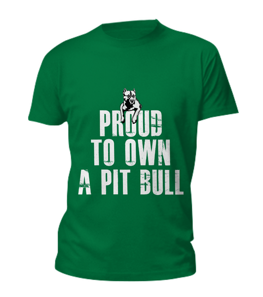 Proud to own a Pit Bull tee - Dogs Make Me Happy - 1
