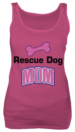 Rescue dog mom shirt - Dogs Make Me Happy - 1