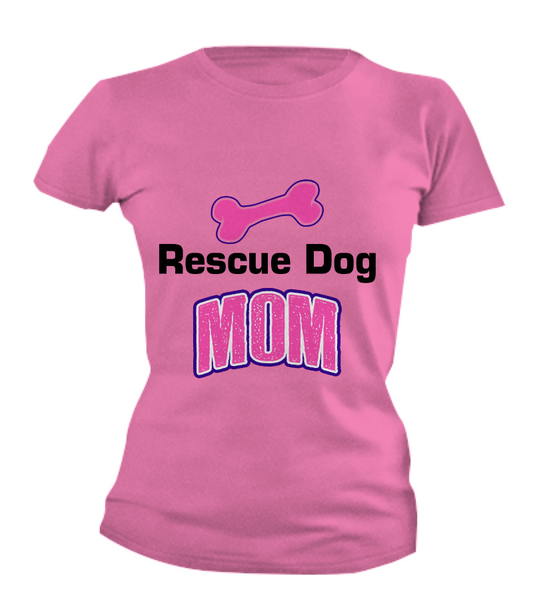 Rescue dog mom shirt - Dogs Make Me Happy - 3