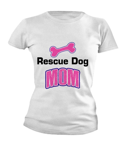 Rescue dog mom shirt - Dogs Make Me Happy - 4
