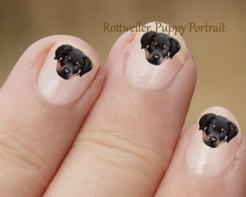 Rottweiler nail art - Dogs Make Me Happy - 2