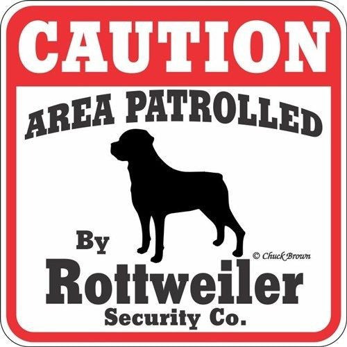 Caution - rottweiler sign - Dogs Make Me Happy