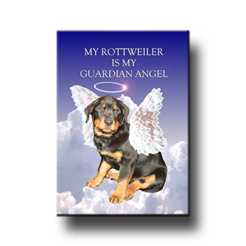 Guardian angel rottie magnet - Dogs Make Me Happy