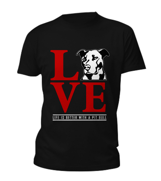 Life is better with a Pit Bull shirt - Dogs Make Me Happy - 6