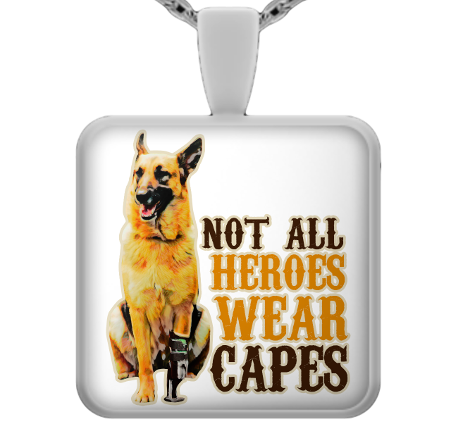 Not all heroes wear capes - necklace