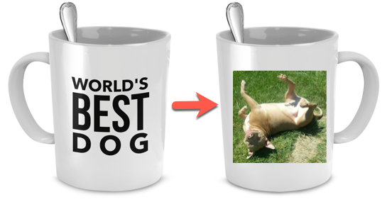 Personalized mug with picture of your dog - Dogs Make Me Happy - 1