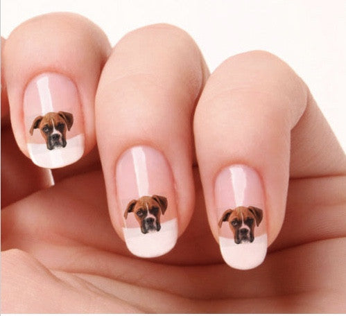 Boxer nail art - Dogs Make Me Happy