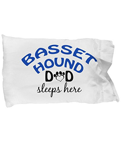 Basset Hound Mom and Dad Pillow Cases