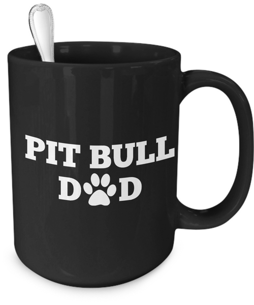 Pit Bull Dad (black) - Dogs Make Me Happy - 4