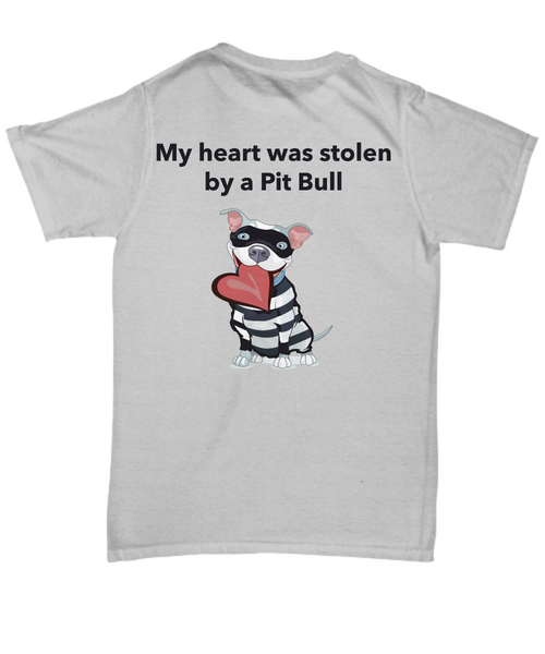 My Heart Was Stolen By A Pit Bull T-Shirt - Dogs Make Me Happy - 4