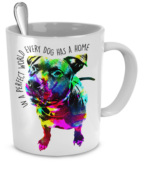 Pit Bull mug - Dogs Make Me Happy - 2
