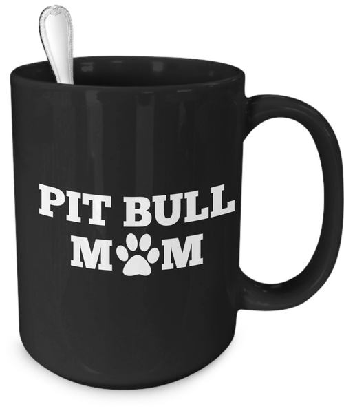 Pit Bull Mom (black) - Dogs Make Me Happy - 4