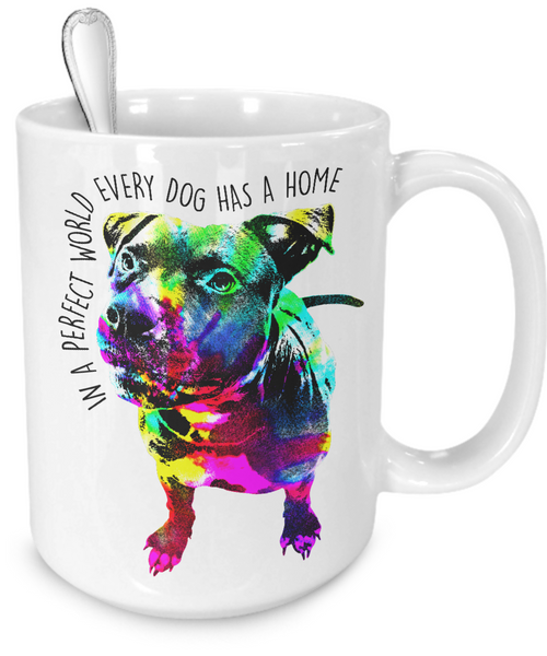 Pit Bull mug - Dogs Make Me Happy - 4