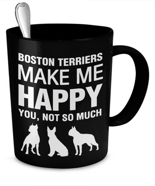 funny boston terrier mug