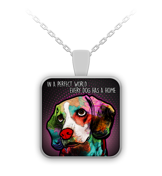 Beagle perfect world necklace - dog necklace - dog necklaces - dog stuff - Dogs Make Me Happy