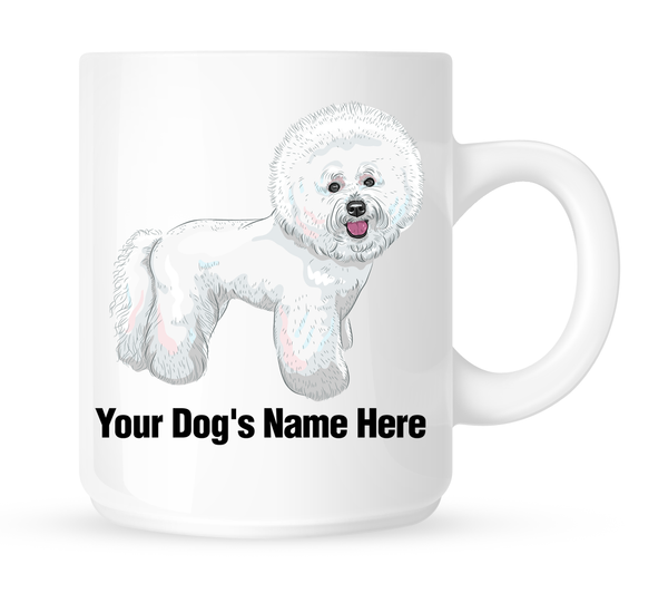 Personalized mug for your bichon - Dogs Make Me Happy
