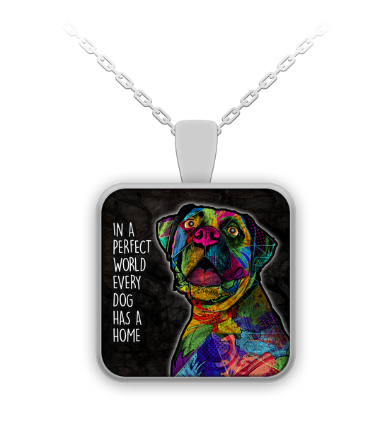 Boxer perfect world necklace - dog necklace - dog necklaces - dog stuff - Dogs Make Me Happy