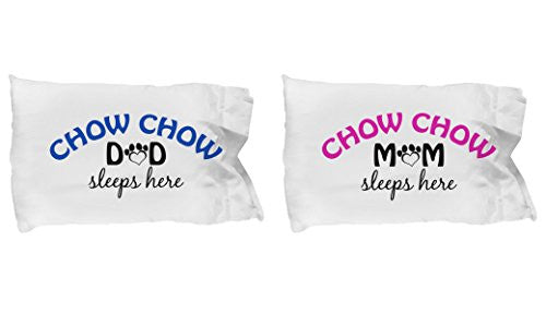 Chow Chow Mom and Dad Pillow Cases