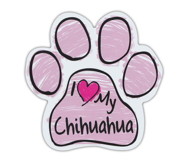 Pink I <3 my chihuahua magnet - Dogs Make Me Happy