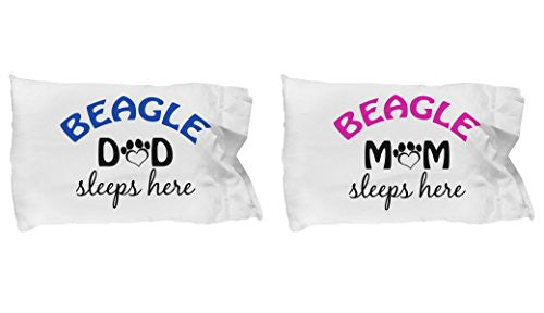 Beagle Mom and Dad Pillow Cases