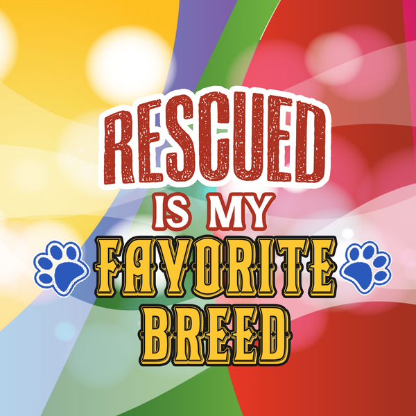 Rescued is my favorite breed necklace -1 - Dogs Make Me Happy - 2