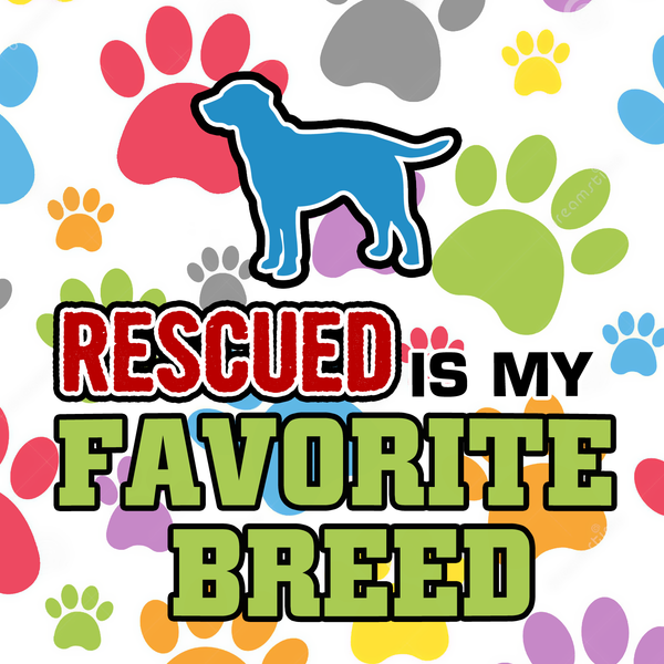Rescued is my favorite breed necklace -2 - Dogs Make Me Happy - 2