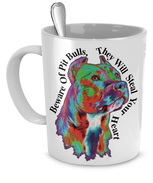 Pit Bulls Mug - Dogs Make Me Happy - 1