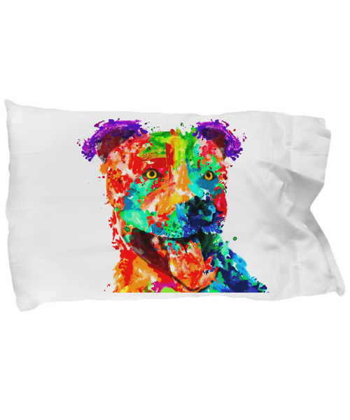 Colorful pillow case - Dogs Make Me Happy