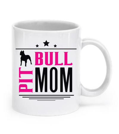 Pit Bull Mom - Coffee Mug - Dogs Make Me Happy