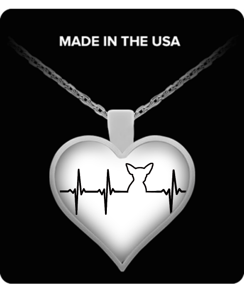 Does your heart beat for chihuahuas? dog necklace - dog necklaces - dog stuff - Dogs Make Me Happy