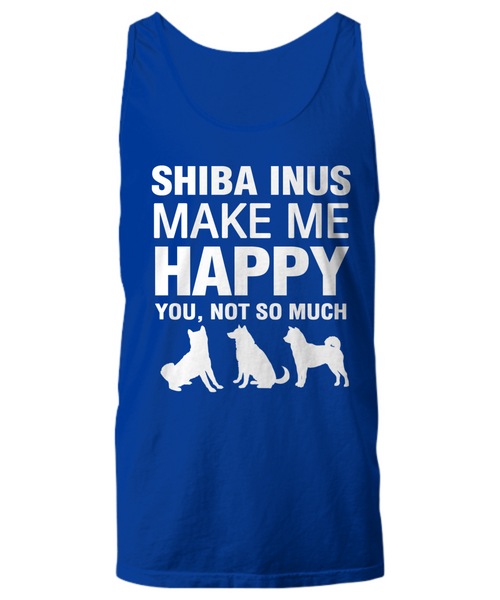 Shiba Inus Make Me Happy Women's Shirt - Dogs Make Me Happy - 25