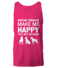 Boston Terriers Make me Happy unisex tank top - Dogs Make Me Happy - 1