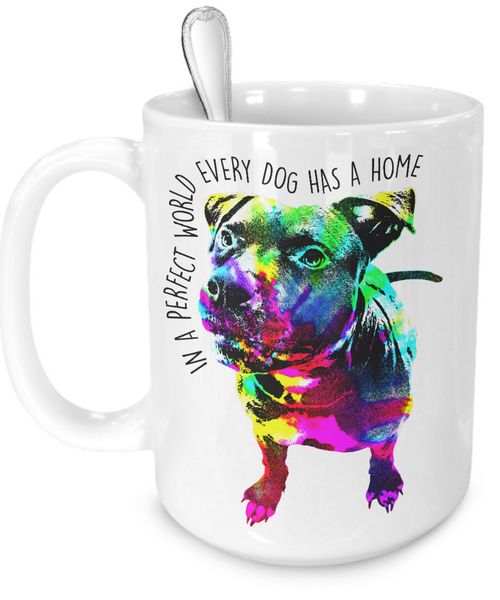 Pit Bull mug - Dogs Make Me Happy - 3