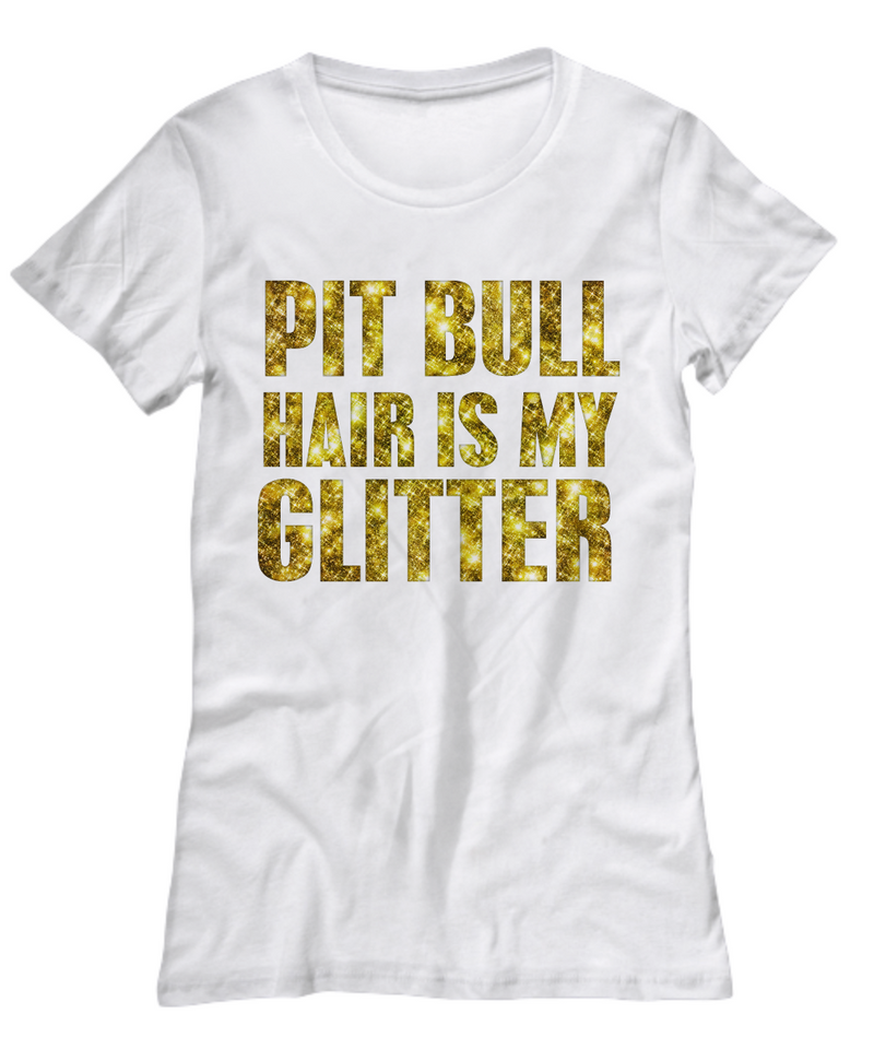 Pit Bull hair is my glitter - tank - Dogs Make Me Happy - 13