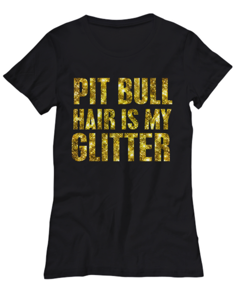 Pit Bull hair is my glitter - tank - Dogs Make Me Happy - 15