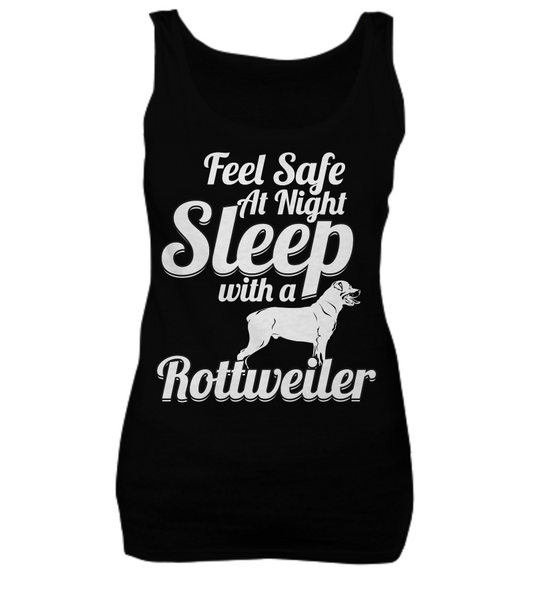 Feel Safe At Night - Rottweiler Tee - Dogs Make Me Happy - 2