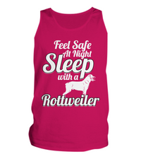 Feel Safe At Night - Rottweiler Tee - Dogs Make Me Happy - 4