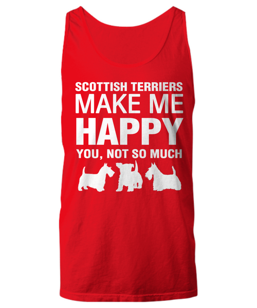 Scottish Terriers Make Me Happy Women's Shirt - Dogs Make Me Happy - 23