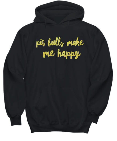 Pit Bulls make me happy - Dogs Make Me Happy - 25