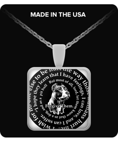 Pit Bull Necklace New - dog necklace - dog necklaces - dog stuff - Dogs Make Me Happy